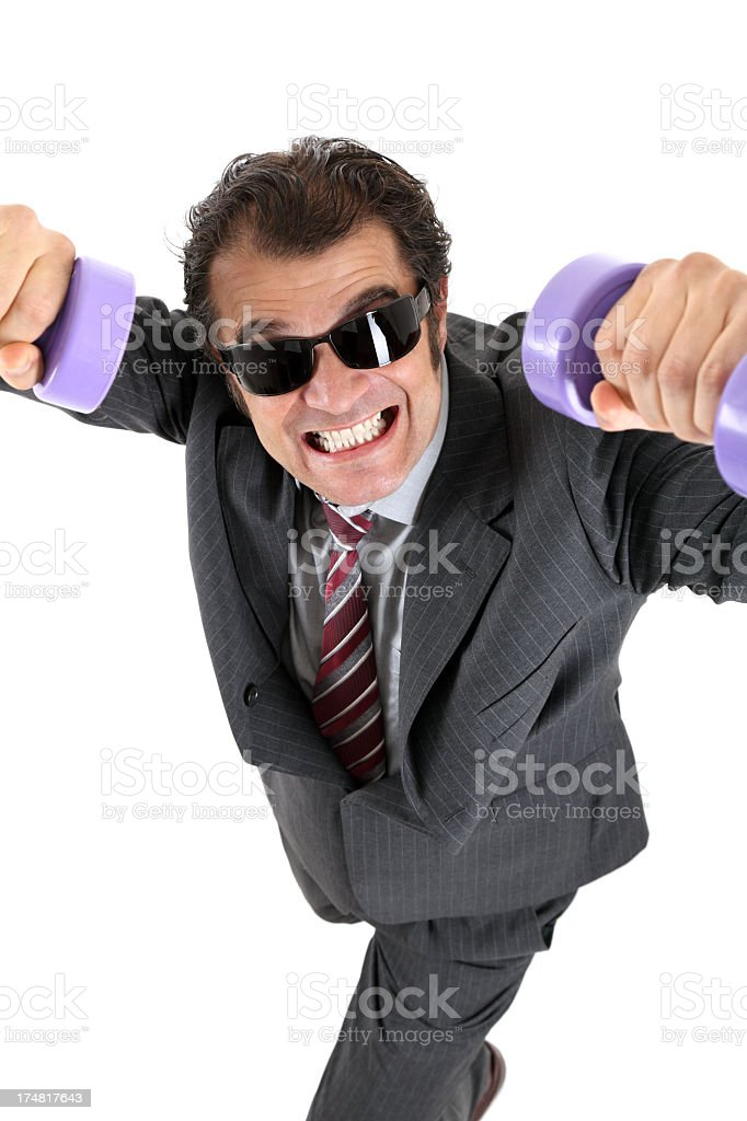 Business exercise royalty-free stock photo
