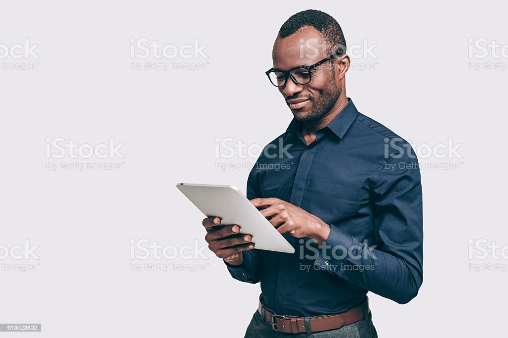 Business expert at work. stock photo
