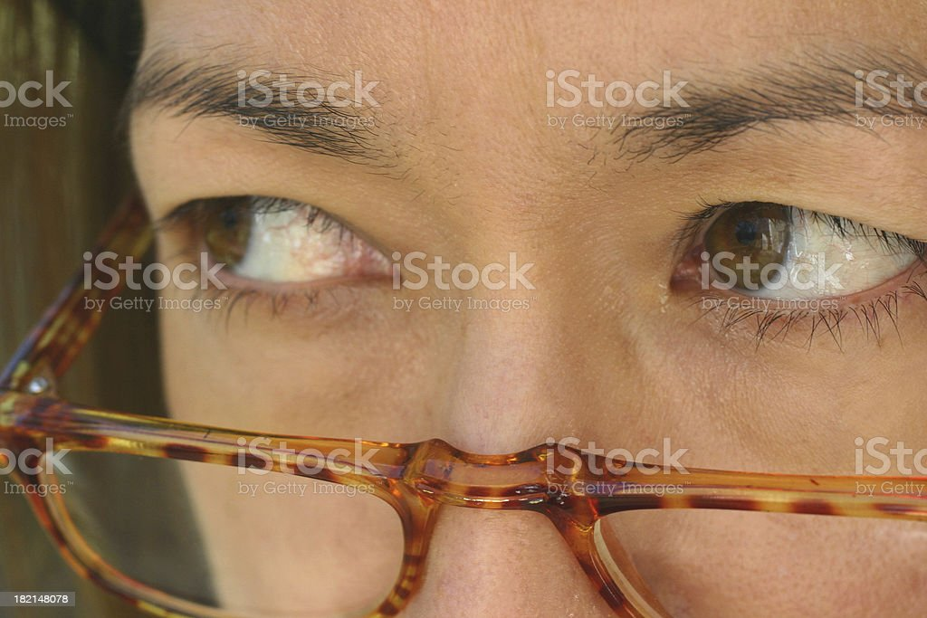 Business eyes royalty-free stock photo