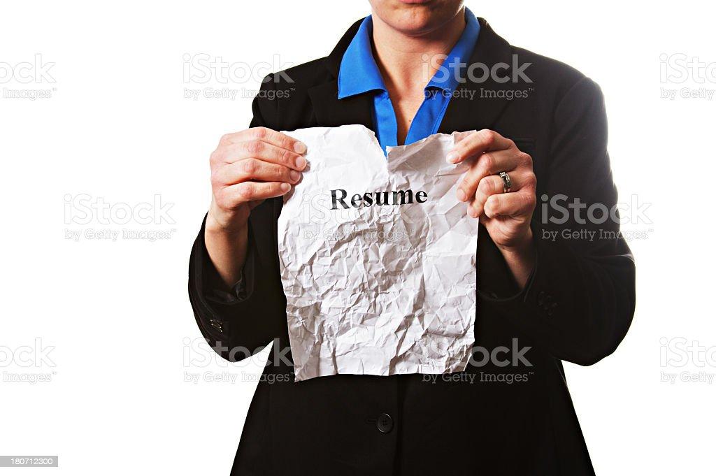 Business Female Resume royalty-free stock photo