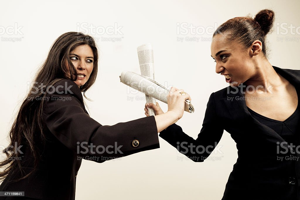 Business Female Rivals royalty-free stock photo