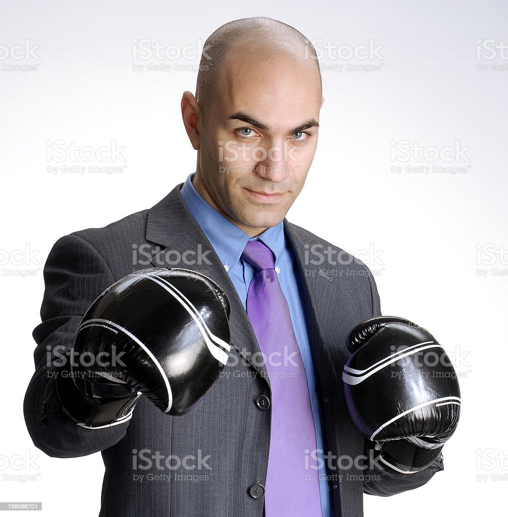 Business fight. royalty-free stock photo