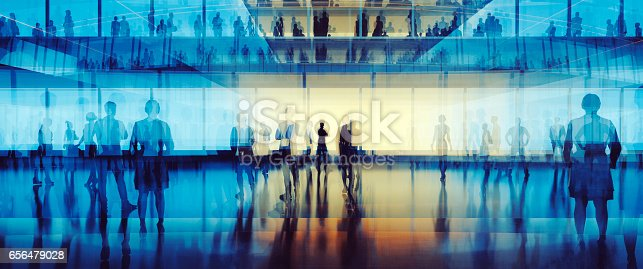 istock Business figures in office, concept 656479028