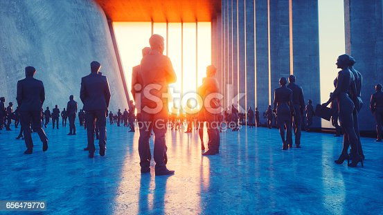 istock Business figures in office, concept 656479770