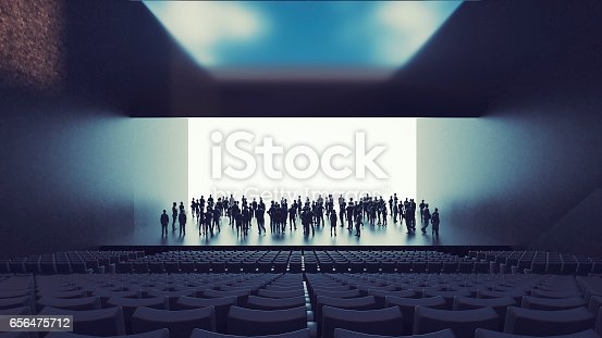 istock Business figures in office, presentation 656475712