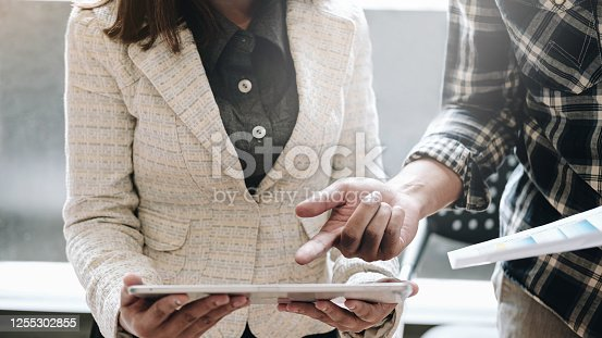 950986656 istock photo Business Finance. accounting advisor investment consulting marketing plan for the company. 1255302855