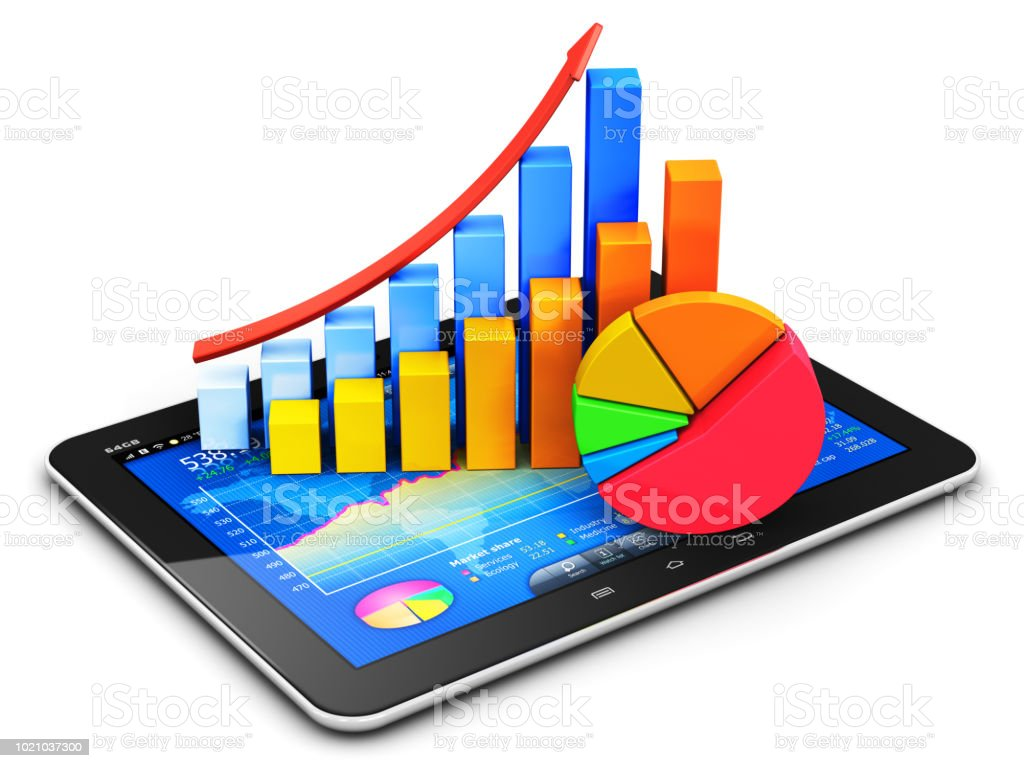 Business Finance Accounting And Statistics Concept Stock Photo