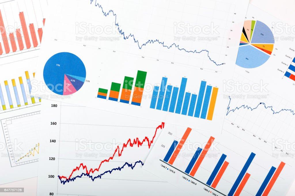 Business Finanzen-Analysen - Papiere mit Diagrammen – Foto