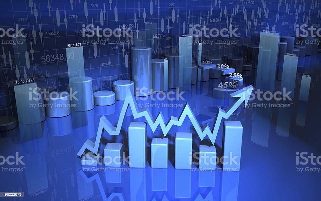 business finance chart, diagram, bar royalty-free stock photo