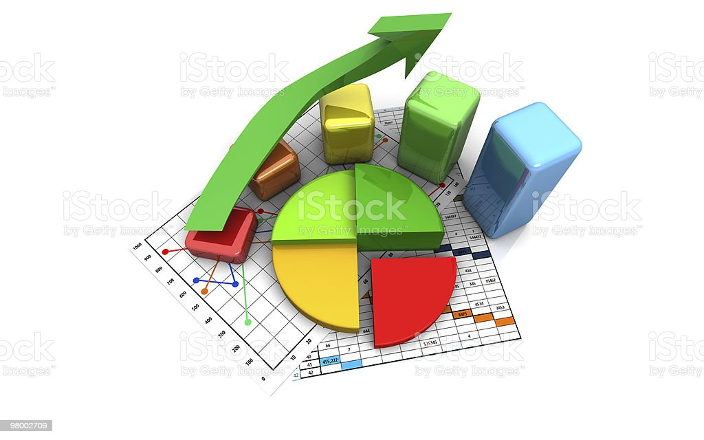 business finance chart, graph, diagram royalty free stockfoto