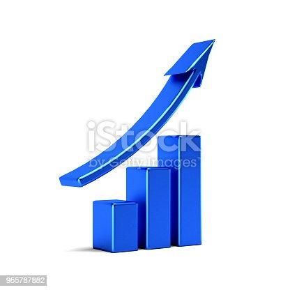 istock Business Finance Graph Bar. 3D Rendering Illustration 955787882