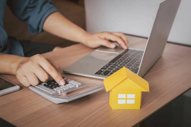 Business & Finance home loan mortgage. stock photo