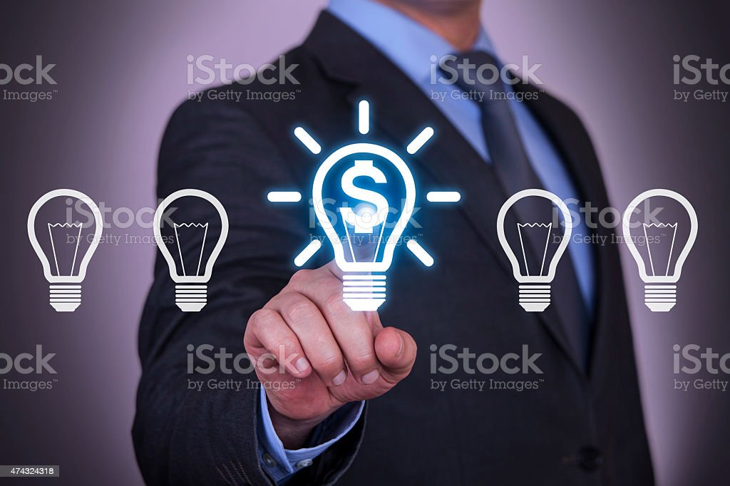 Business Finance Idea Light Bulb stock photo