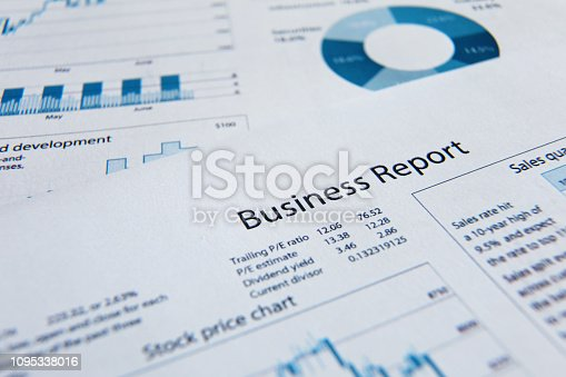 istock Business finance report sales analysis 1095338016