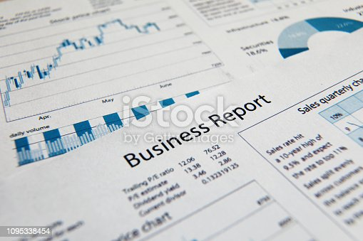 istock Business finance report sales analysis 1095338454