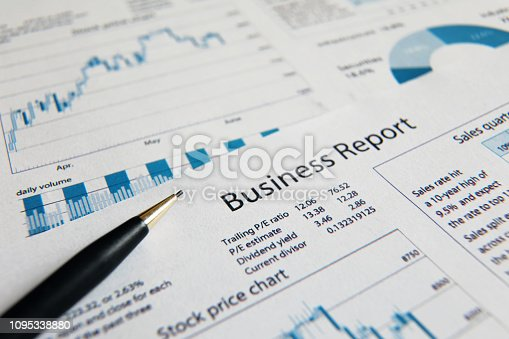 istock Business finance report sales analysis 1095338880
