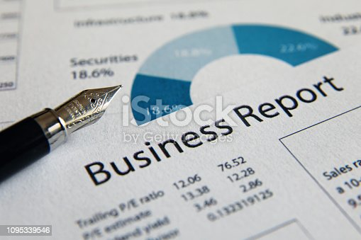 istock Business finance report sales analysis 1095339546