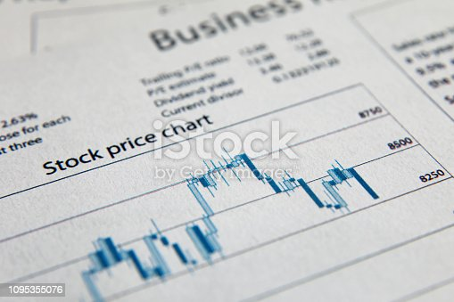 istock Business finance report sales analysis 1095355076
