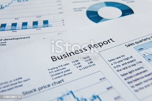 istock Business finance report sales analysis 1095388170