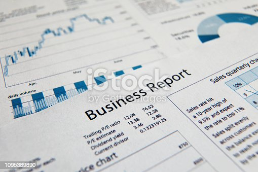 istock Business finance report sales analysis 1095389890