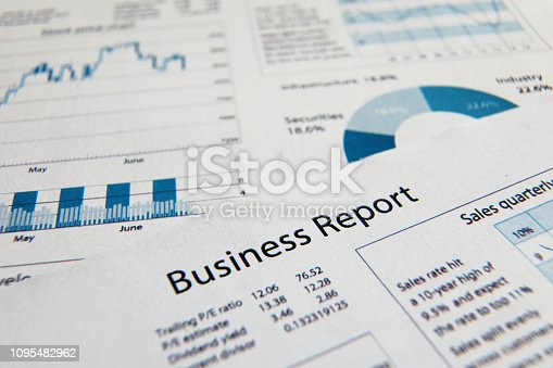 istock Business finance report sales analysis 1095482962
