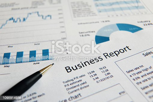 istock Business finance report sales analysis 1095914938