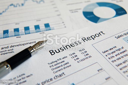 istock Business finance report sales analysis 1095915376