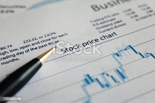 istock Business finance report sales analysis 1095933496