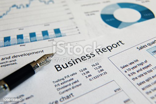istock Business finance report sales analysis 1096499840