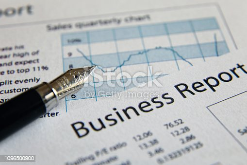 istock Business finance report sales analysis 1096500900