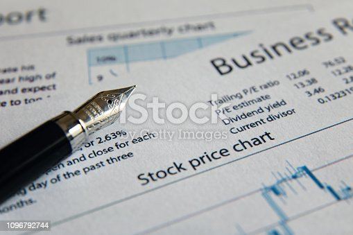 istock Business finance report sales analysis 1096792744