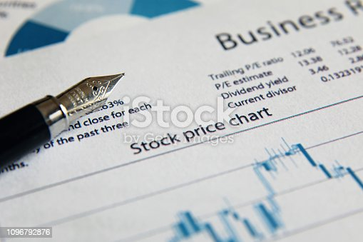 istock Business finance report sales analysis 1096792876