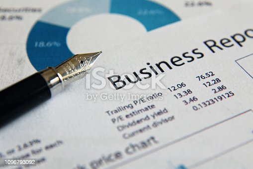 istock Business finance report sales analysis 1096793092