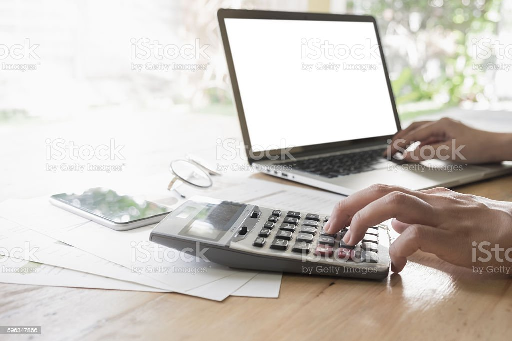 Business finance, tax, accounting, statistics and analytic royalty-free stock photo