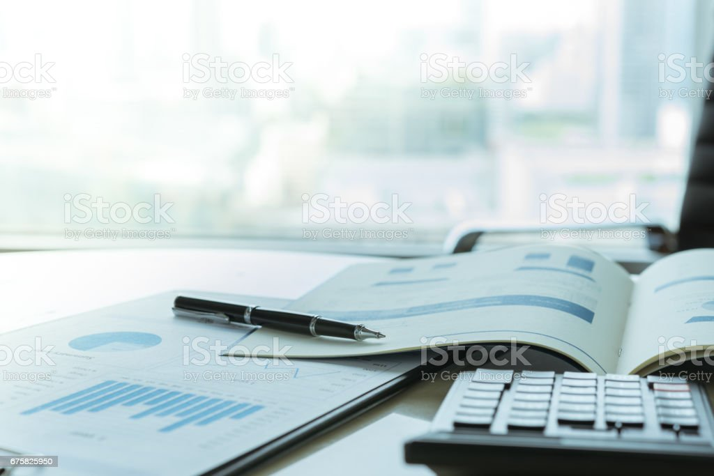 business financial accounting - foto stock
