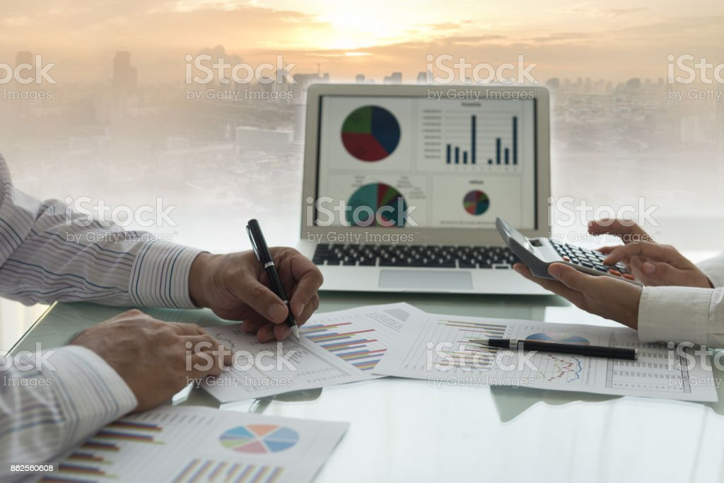 business financial accounting stock photo
