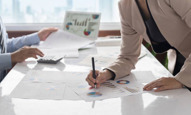 business financial analysis - foto stock