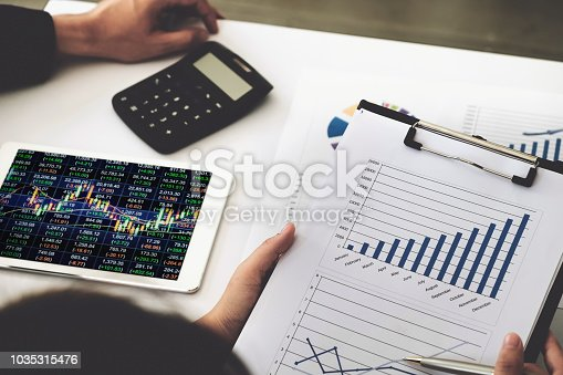 1032388356 istock photo Business financial, Business accountant discussing with partner are meeting to audit finance planning sales to meet targets set in next year. budget plan concept. 1035315476