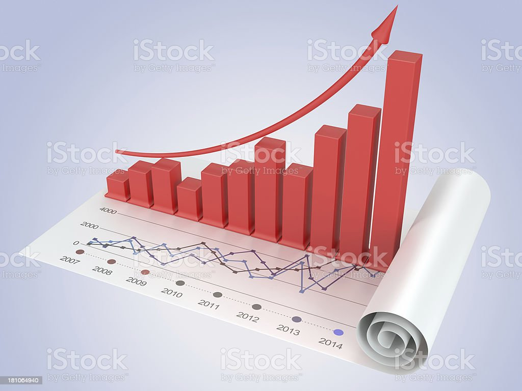 Business Financial data Graphs and charts Analyzing royalty-free stock photo