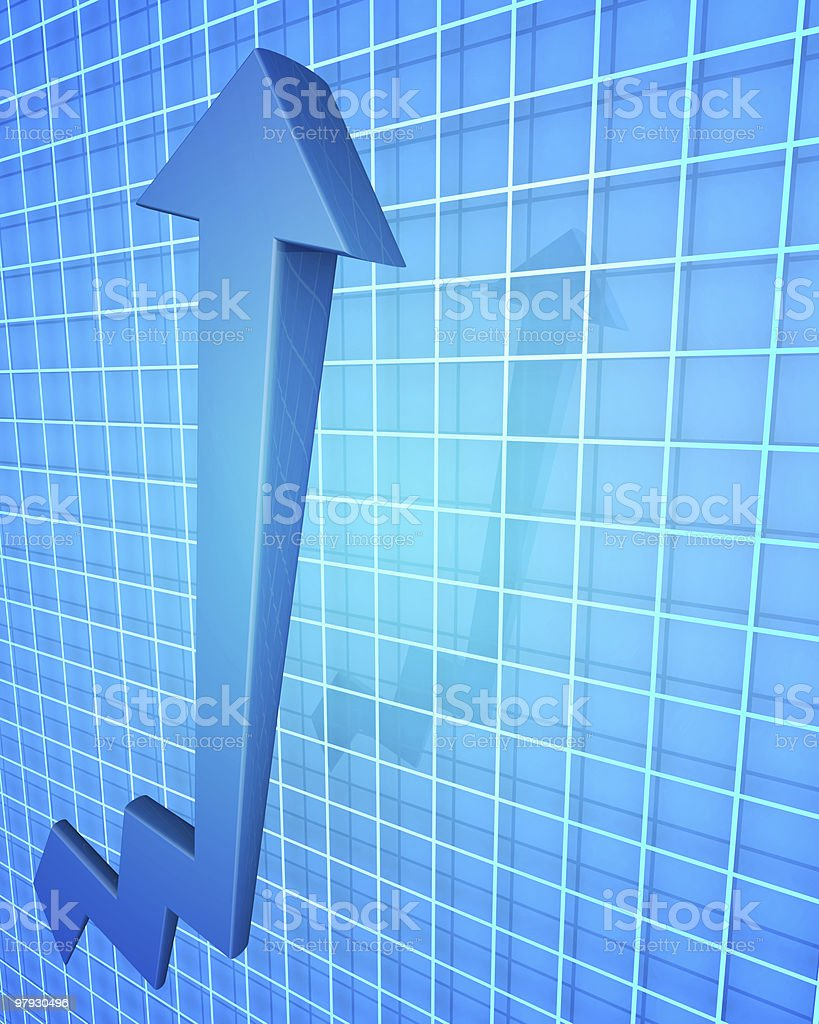 Business Financial Improvement Chart Concept royalty-free stock photo