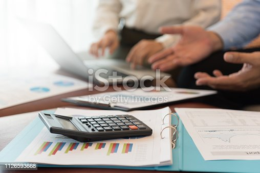 675825950 istock photo Business financial meeting 1126593668