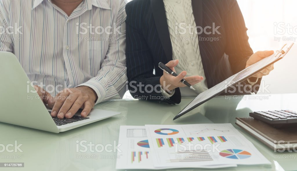 business financial meeting stock photo