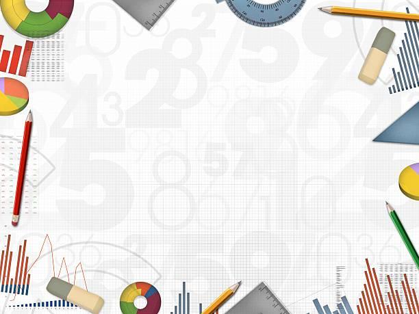 Numery działalności finansowej tle ramki Ilustracja – zdjęcie