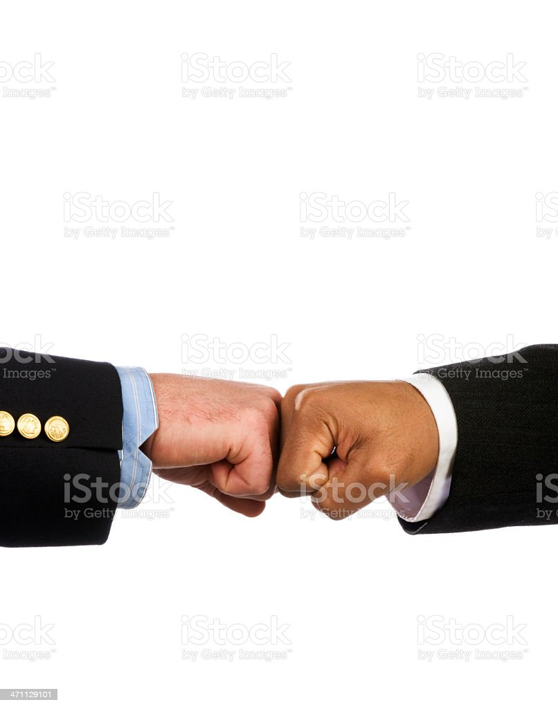 Business Fist Bump royalty-free stock photo