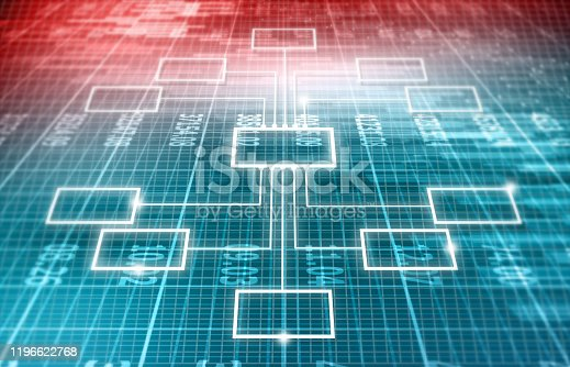 istock Business flow chart on abstract background 1196622768