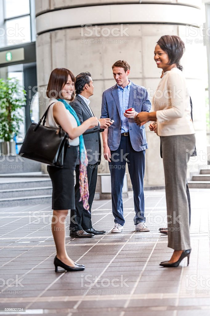 Business folk group talks in the business hall,Kyoto,Japan,Nikon D3x