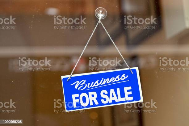 Business For Sale For Sale Sign Stock Photo - Download Image Now