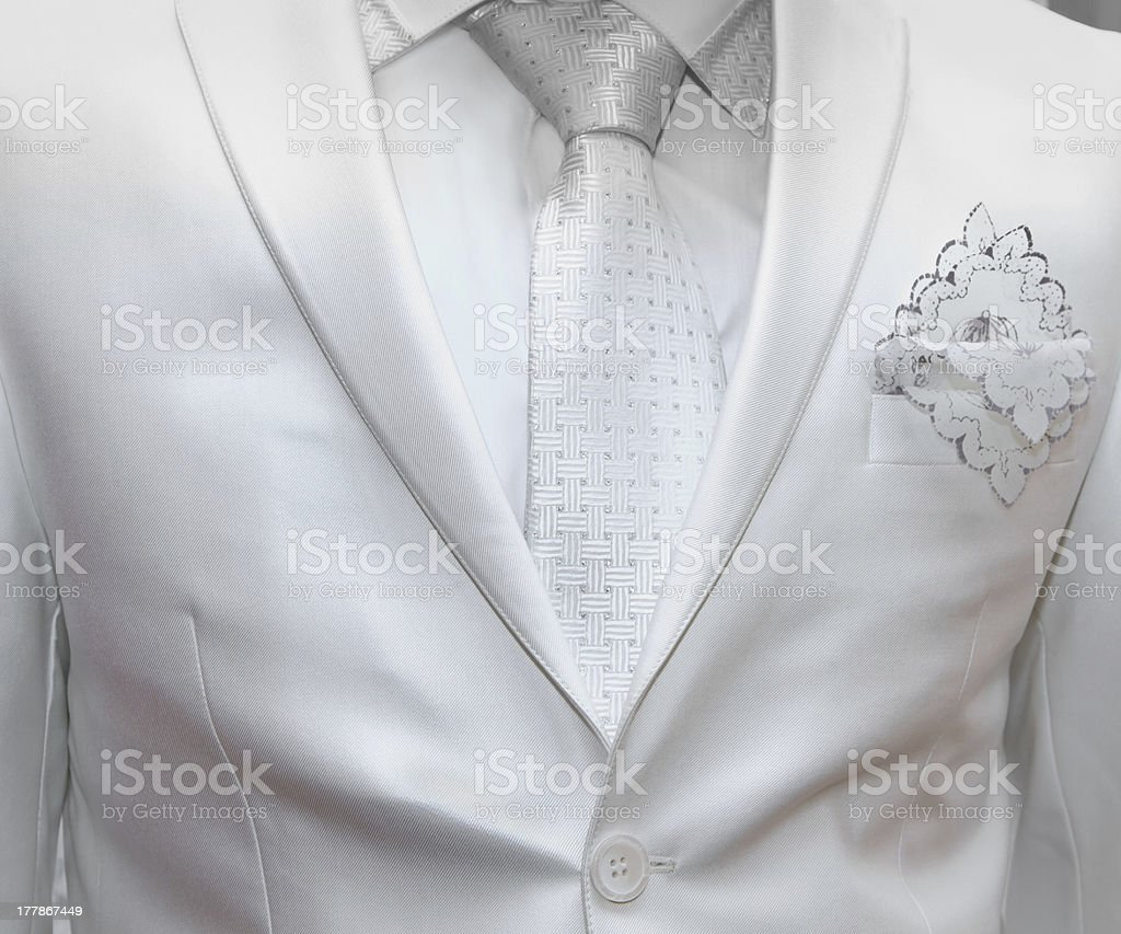 business formal wear with tie and suit royalty-free stock photo