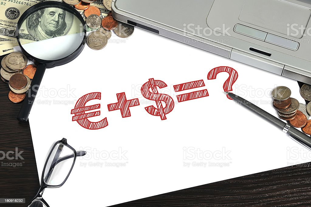 business formula on paper royalty-free stock photo