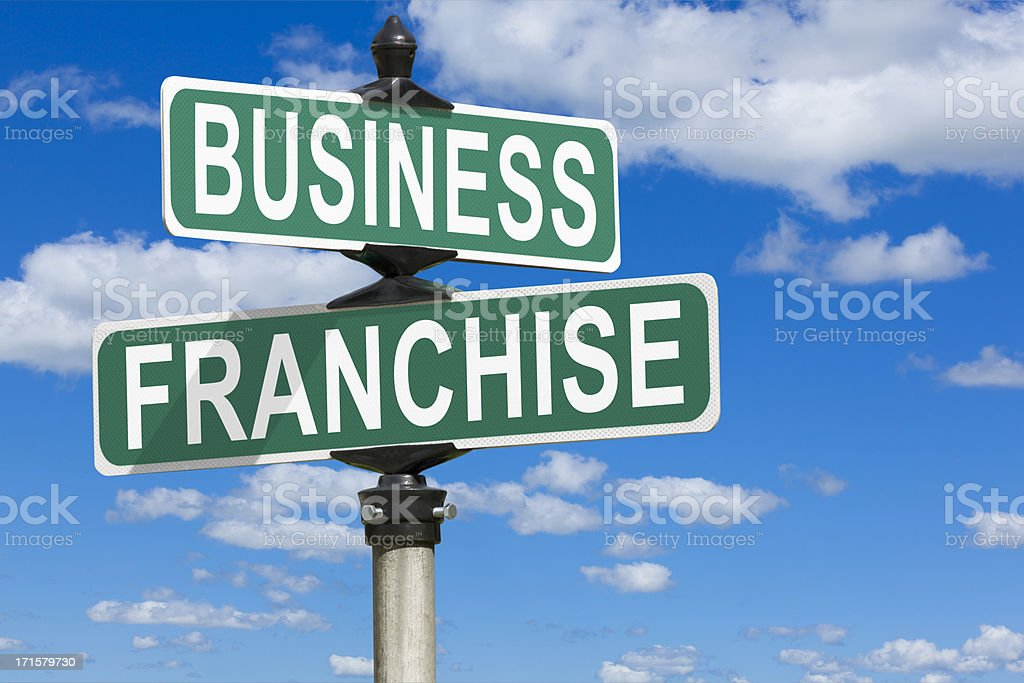 Business Franchise Street Sign stock photo